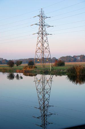 eyesore: Reflecting Pylon Stock Photo