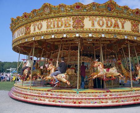 fairground: Carousel at Fairground