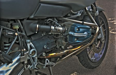 View of side valve motorcycle engine Stock Photo - 2457996