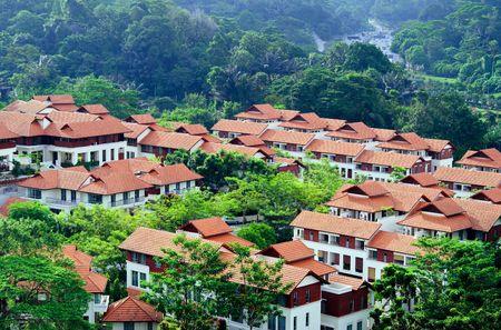 Modern housing community in Kuala Lumpur