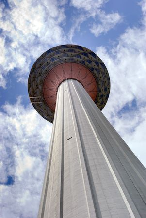 Looking up at the KL Tower in Kuala Lumpur Malaysia Stock Photo - 4705777
