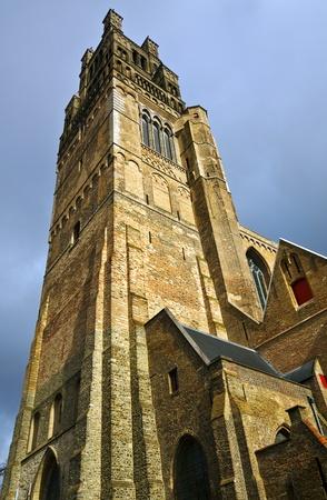 salvator: Dominating Saint Salvator Cathedral in Brugge, Belgium
