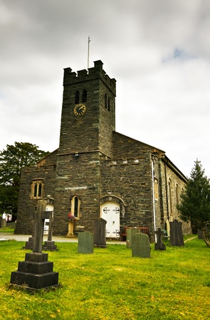 cumbria: Church of St Andrew on an overcast day in Cumbria