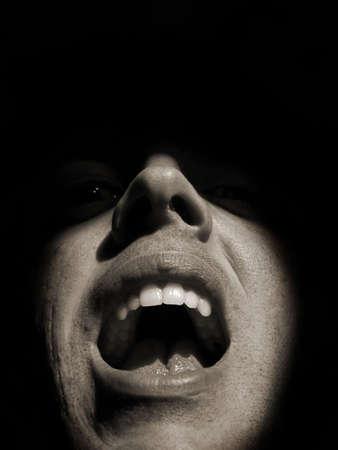 Man yelling photo