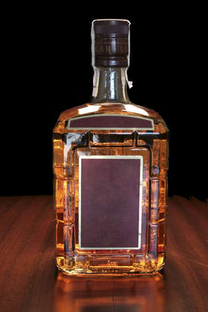 cabernet: bottle of whiskey Stock Photo