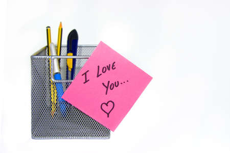Pink love note photo