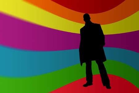 silhouete: Man silhouete in a Pop Art Style Stock Photo