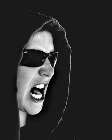 Woman yelling Stock Photo - 365763