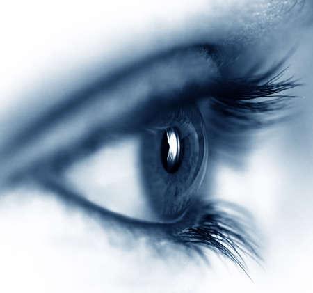 look: Closeup of a beautiful female eye Stock Photo