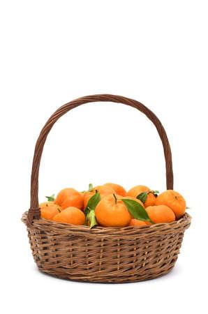 tangy: Tangerines basket Stock Photo
