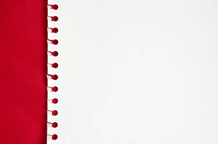 White paper in a red background Stock Photo - 451434