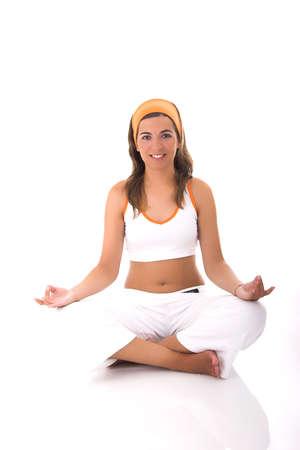 mujer meditando: Mujer hermosa meditaci�n  Foto de archivo