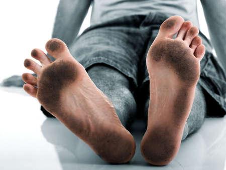 Funny dirty feet