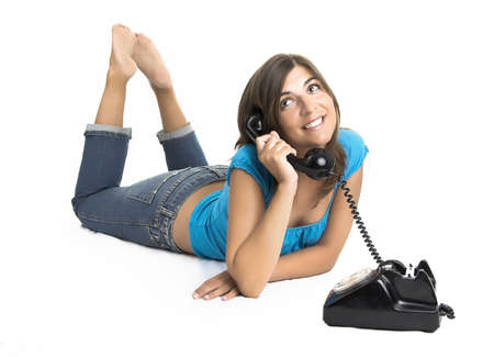 Beautiful girl making a phone call Stock Photo - 504416
