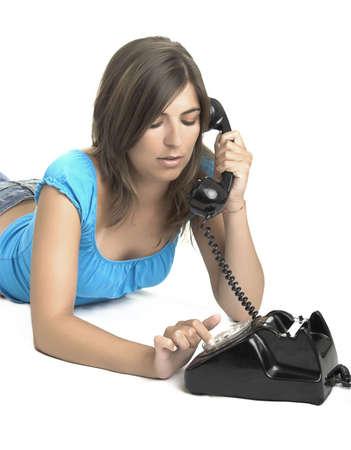 Beautiful girl making a call Stock Photo - 504412