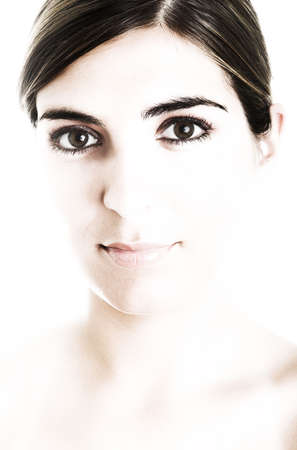 overexposed: Portrait of a young beautiful woman (a little bit overexposed)