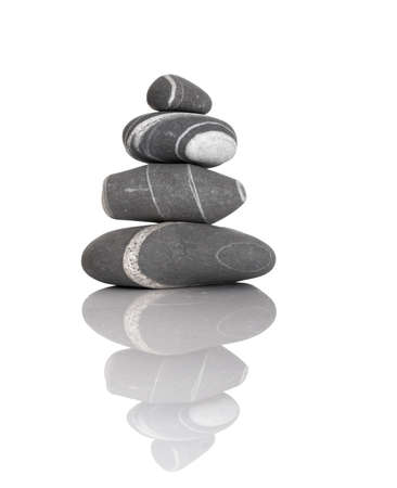 Stack of balanced stones on a white background Stock Photo - 869584
