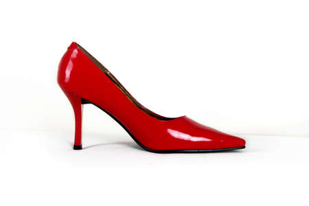 Picture of a single sexy red shoe  photo