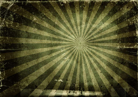 Background made with old textured paper with light rays photo