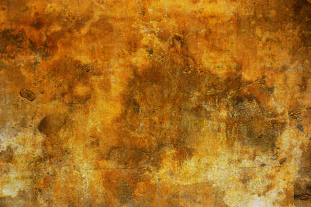 Background made with an old yellow wall photo