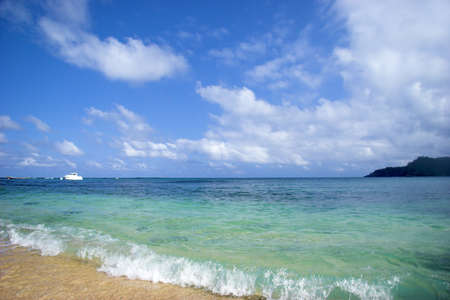 turqoise: Beautiful beach with a great blue sky and turqoise water in Sao Tom� - Equator