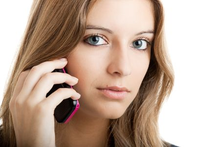 Portrait of a beautiful businesswoman using mobile phone Stock Photo - 5350935