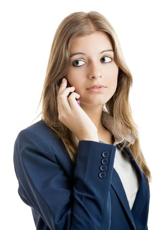Portrait of a beautiful businesswoman using mobile phone Stock Photo - 5399438