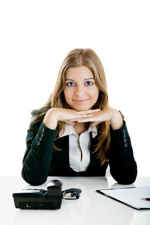 Portrait of a beautiful businesswoman in the office Stock Photo - 5399407