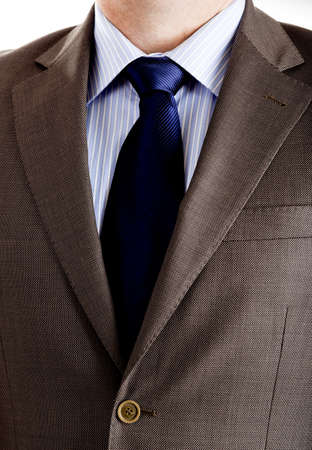 Close-up picture of a business suit with neck necktie   photo