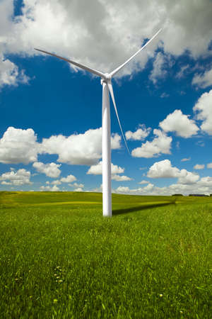 Clean energy being generated by a windmills park Stock Photo - 7750742