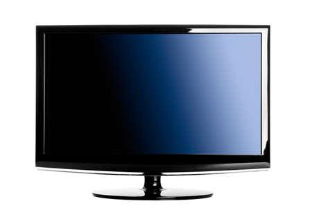 TV de lcd moderno aislado sobre un fondo blanco Foto de archivo - 8372443