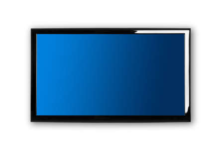 Modern lcd TV on a white wall Stock Photo - 8372394