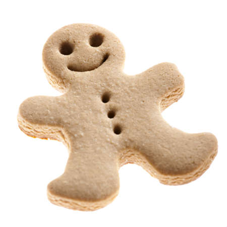 Homemade Gingerbread man cookie isolated on white background Stock Photo - 8407443