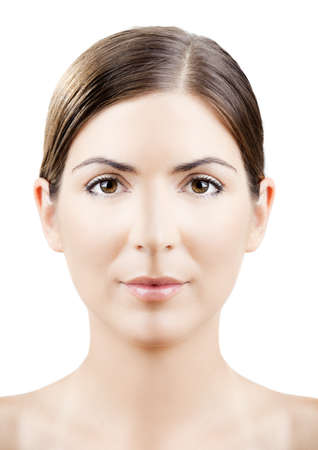 ps: Close-up portrait of a woman with a perfectly symmetrical face (PS manipulation)