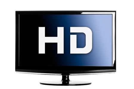TV lcd de alta definici�n aislada sobre un fondo blanco. Foto de archivo - 9210583