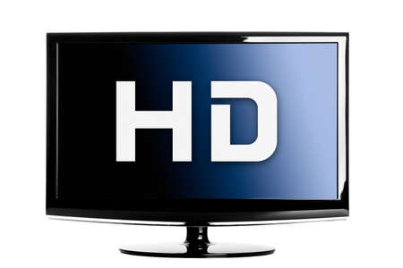 TV lcd de alta definición aislada sobre un fondo blanco. Foto de archivo - 9210583