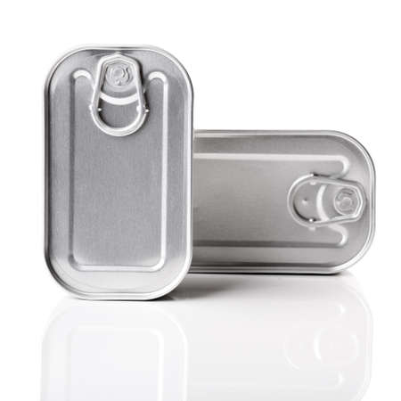 Sardine tin isolated over a  white background photo