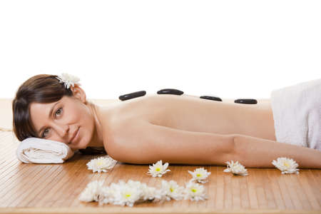 Beautiful and attractive young woman getting a spa treatment Stock Photo - 9420952