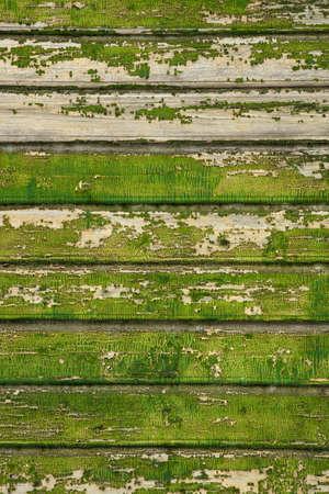 antiek behang: Achtergrond foto gemaakt van de oude groene houten planken