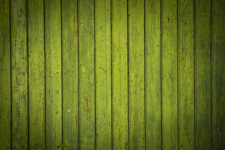 degraded: Background picture made of old green wood boards Stock Photo