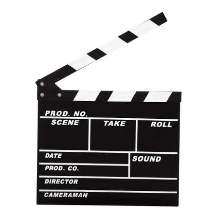 Picture of a Clapboard isolated on a white background Stock Photo - 12165440