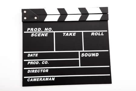 clapper board: Picture of a Clapboard isolated on a white background
