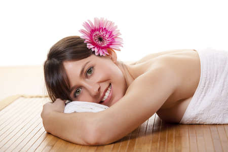 Beautiful and attractive young woman getting a spa treatment Stock Photo - 12955233
