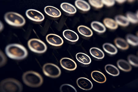 vintage typewriter: Close-up picture of a keyboard from a vintage typewriter