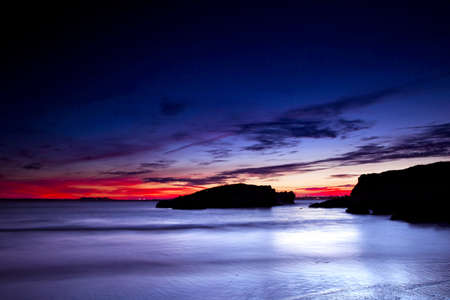 Beautiful sunset in a beach of south Europe Stock Photo - 17227256