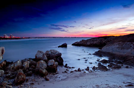 Beautiful sunset in a beach of south Europe Stock Photo - 17227257