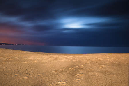 Beautiful night landscape of a white sand beach from south europe Stock Photo - 17227251