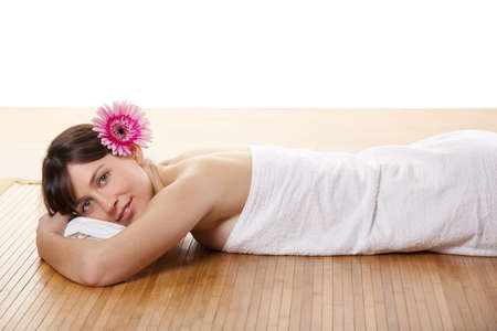 Beautiful and attractive young woman getting a spa treatment  Stock Photo - 17241090