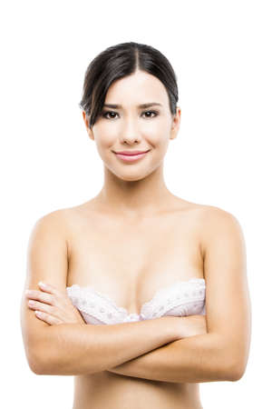 Beautiful asian woman in lingerie, isolated over white background Stock Photo - 19063977