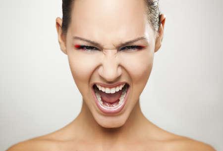 fashion portrait of a beautiful young woman shouting Stock Photo - 19428664